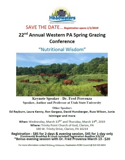 22nd Annual W PA Spring Grazing Conference